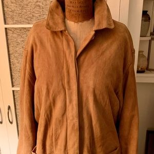 Loro Piana Camel color suede and cashmere jacket